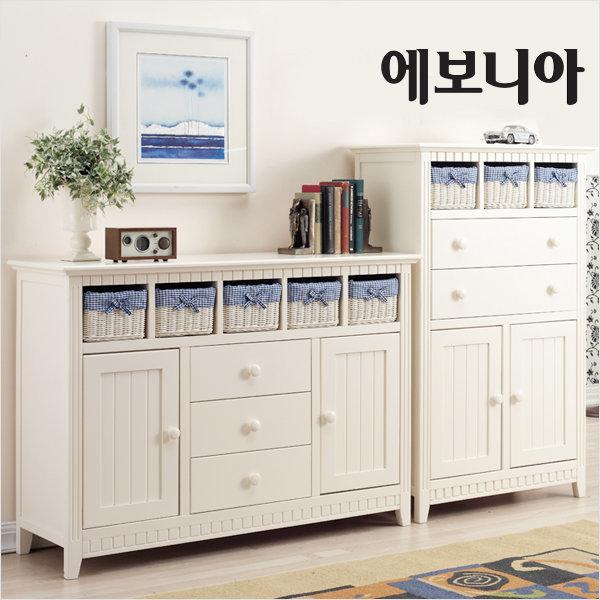 라탄서랍장 벨리아 체스트 54/34/라탄바구니/수납장
