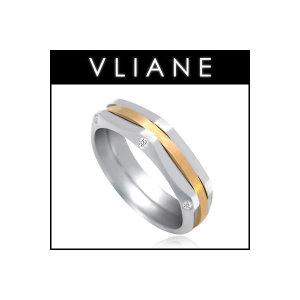 VLIANE 브리앙 14K 헥사곤 다이아몬드 남자 반지