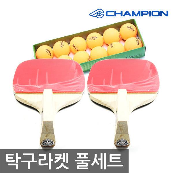 티마운트 챔피온 피스 도닉 탁구라켓 풀세트 라켓2+공