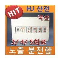 HJ산전 분전함 분전반 노출 3 4 5회로 주택용 전기함