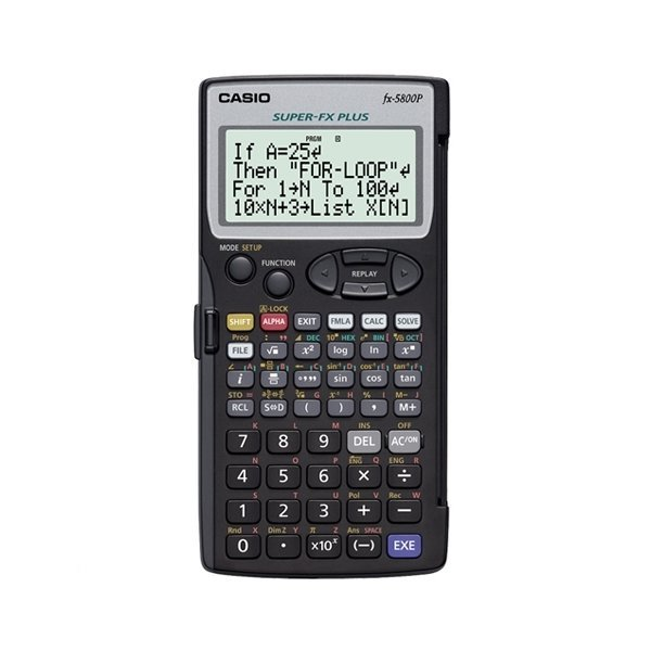 CASIO FX-5800P/공학용계산기 프로그램계산기의표준
