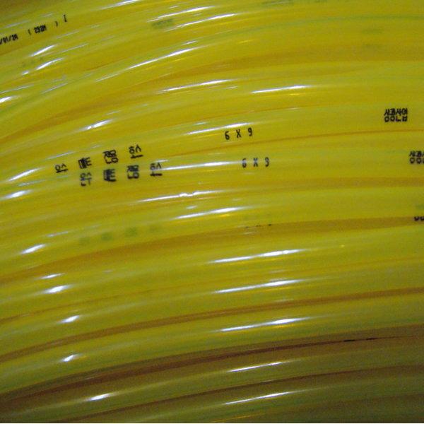 온수매트호스온수호스온수매트만들기 투명재질.6X9mm