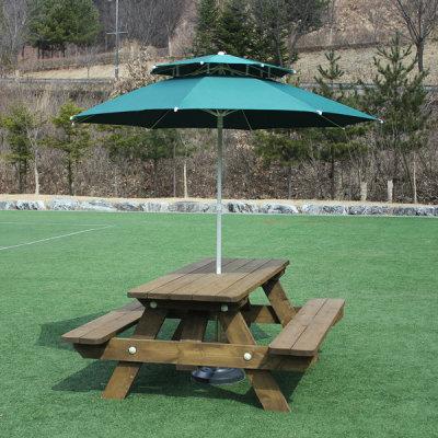 방부목 야외 테이블 서울랜드 원목 벤치 의자 세트 - 옥션