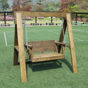 조립 그네 야외 원목 방부목 나무 DIY 의자 정원 펜션