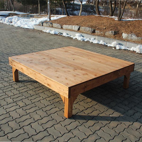 야외 정원 평상 야외용 원목 마루 나무 탁자 침대 - 옥션