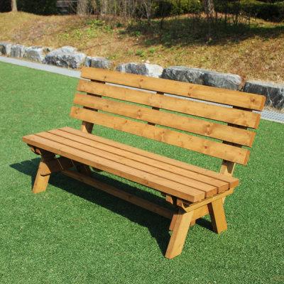 원목 야외 방부목 벤치 나무 의자 공원 정원 등벤치 - 옥션