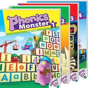 Phonics Monster SET(SB with CD+WB)/1.2.3.4단계 선택/파닉스몬스터