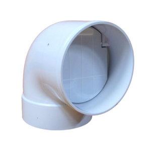 역풍방지엘보 10cm 욕실환풍기 화장실환풍기 역류방지