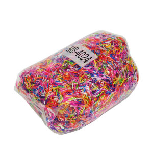 미니칼라고무밴드혼합1kg/대용량고무줄/머리묶는끈