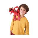 붉은색 용 어깨 인형