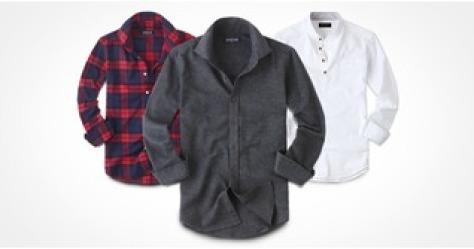 겨울용 기모 체크 솔리드 셔츠남방