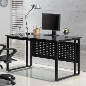 강화유리책상 프린츠 책상 사무용 테이블 컴퓨터 책상