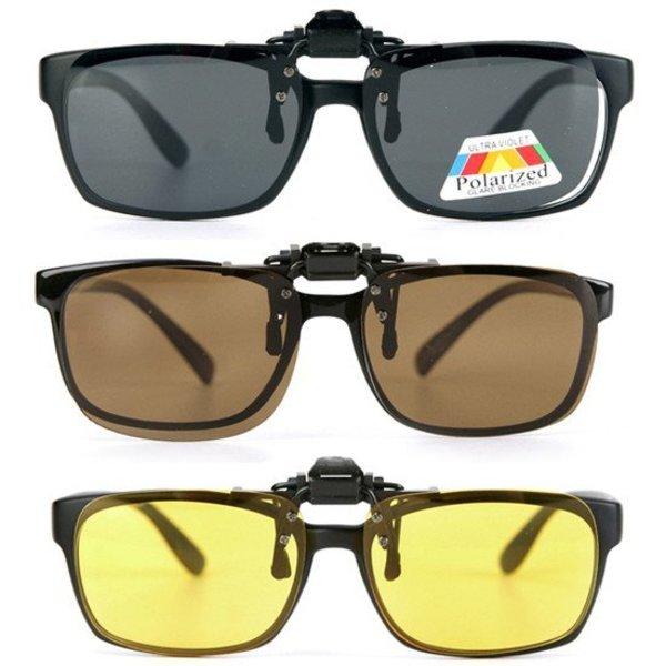포나인  편광 UV 차단 안경 클립 선글라스 B163F/등산/낚시/레저/골프/각종 스포츠용