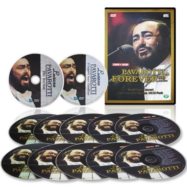 기타 다큐멘터리  루치아노 파바로티 베스트 컬렉션 CD10장(116곡)+DVD2장  공연실황 인생다큐