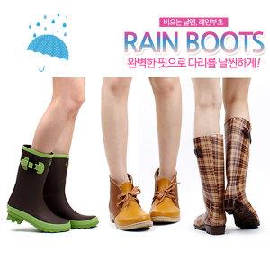 패션 레인부츠 초특가 인기 1위 장화 미들 롱 여성용
