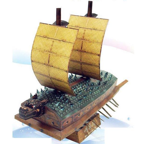 퍼즐마을해피페이퍼 거북선 종이접기 종이퍼즐 모형