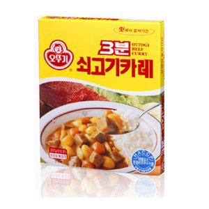 오뚜기 쇠고기카레200g/카레/짜장/미트볼/햄벅/택1