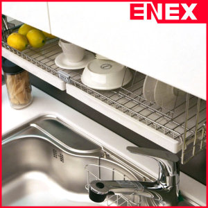 에넥스 ENNEE 800 1단 씽크대선반/식기건조대/수납