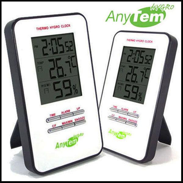 CE유럽인증/애니템 온습도계/온도계+습도계+알람+시계
