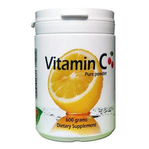 비타민C600g/분말100%/대용량/1g짜리600정분/편한용기