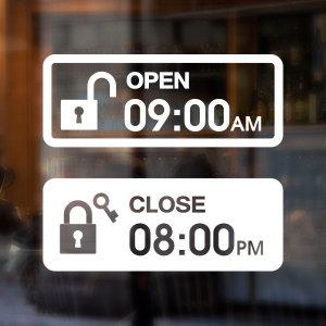 오픈클로즈스티커/OPENCLOSE/카페스티커/심플디자인