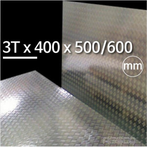 3T (두께mm) x 400 x 500/600 알루미늄 체크 무늬 판