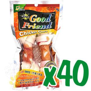 굿프랜드 치킨츄 딩고껌 2p x40/개껌/우유껌
