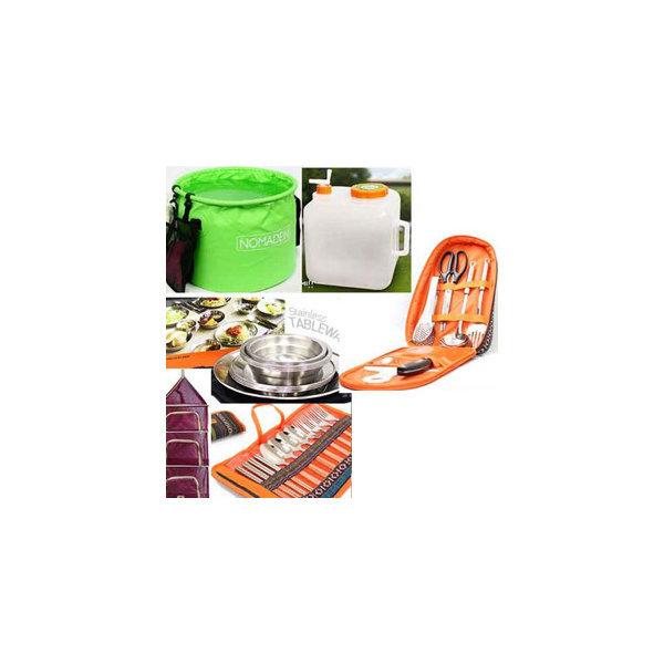 캠핑용품 양념통 설거지통 건조망 물 코베아 스텐식기