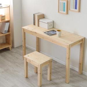 컴퓨터 노트북 책상 삼나무 슬림테이블 1200x450
