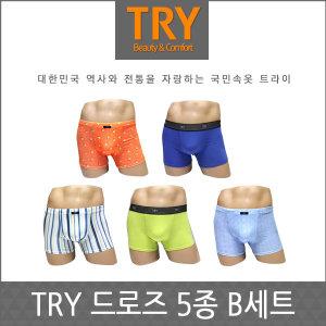 국민속옷트라이  드로즈 B세트 5종