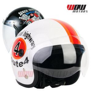 베이비젯 버블F4 스몰젯 헬멧 스쿠터 바이크 오토바이