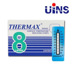 THERMAX 온도 라벨 A B C D E형 영국 8L 온도테이프