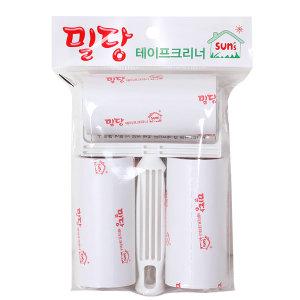 밀당 테이프크리너 핸들+리필 3개 먼지 머리카락 청소