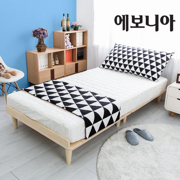 파인 평상형 원목침대프레임S/900싱글/매트제외