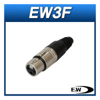 E W EW3F/케이블용(암) XLR커넥터/EW