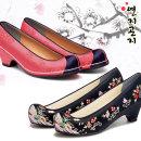 여자한복신발 자수 한복신발 꽃신 갖신 민속화 전통