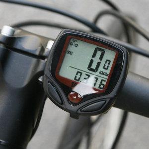 14기능 디지털 자전거속도계 싸이클 MTB 안전등 안장