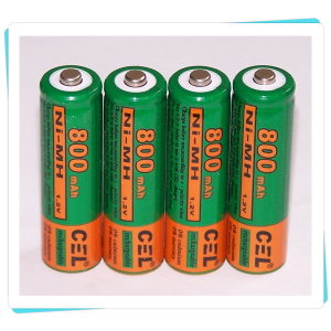 CEL 충전식 AA배터리 (1.2V 800mAh) 4알1셋트/벌크팩