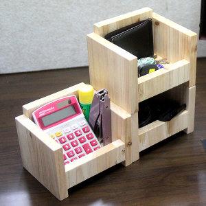 삼나무 원목 수납함/책상수납장