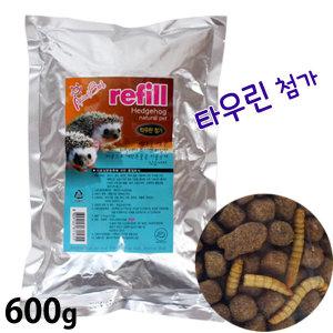애니멀밥 고슴도치전용사료 리필 600g/도치 먹이 밀웜