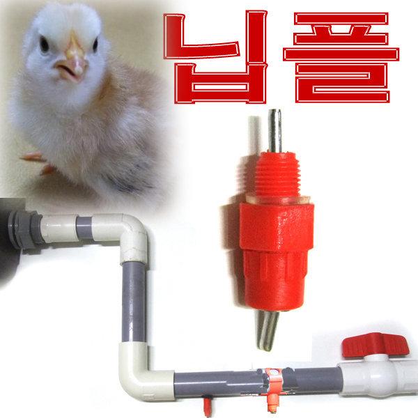 나사형 닙플 닭급수 병아리 물통 닭용품 닭 모이통