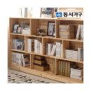 동서가구 원목삼나무 3단 가로형 책장 DF902927(착불)