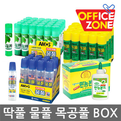 [종이나라] 正(BOX)박스 1갑 아모스 딱풀 목공풀 물풀 투명풀 35g