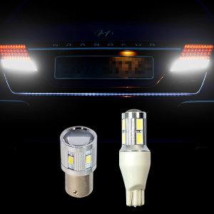삼항ㅁ12V용 S25-T15타입 LED후진등 전구/테일램프