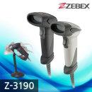 ZEBEX Z-3190 건타입 CCD 핸드 바코드스캐너 리더기