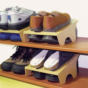 슈즈랙/더블형 슬림형/신발장 정리대 신발정리수납
