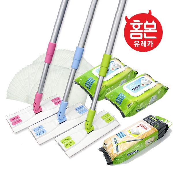 홈몬 밀대걸레+패드4장/물걸레 청소기/청소용품청소포