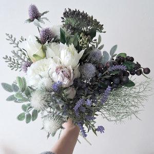 예쁜 조화 꽃 셀프웨딩 부케 성묘 인테리어 화분
