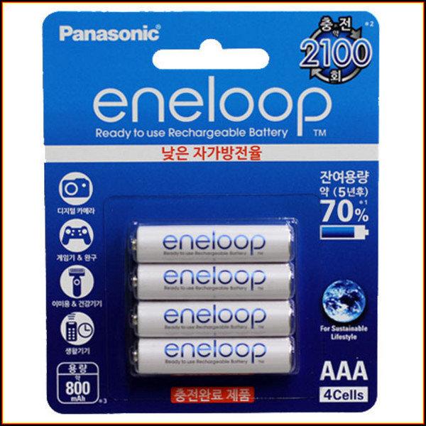파나소닉 에네루프 800mAh 4알 AAA eneloop배터리 충