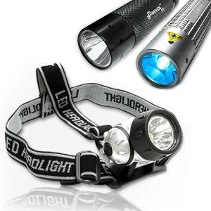 밝기조절 헤드랜턴/후레시/전조등/방수랜턴/LED/CREE